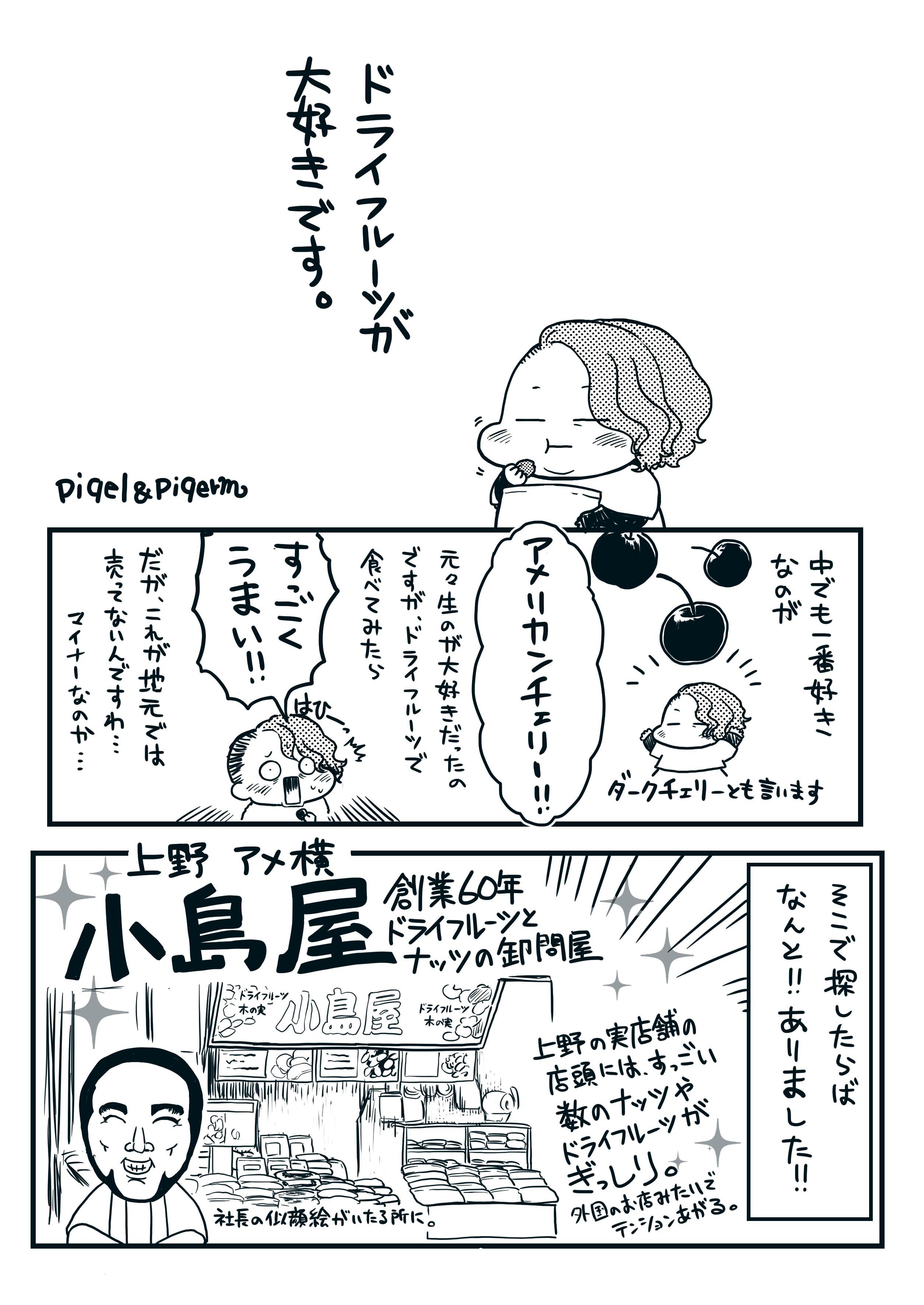 小島屋さんのドライフルーツがすごい